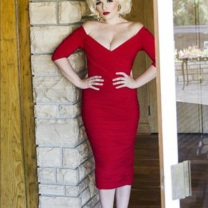 Pinup Couture Red Monica Wiggle Dress 2x